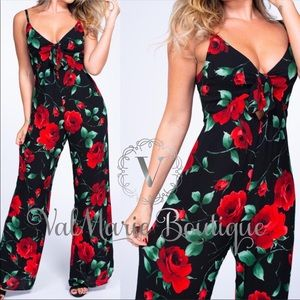 In full bloom rose jumpsuit